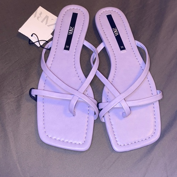 Purple lavenderZara sandals flats